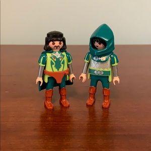 2 green dragon Playmobil knights